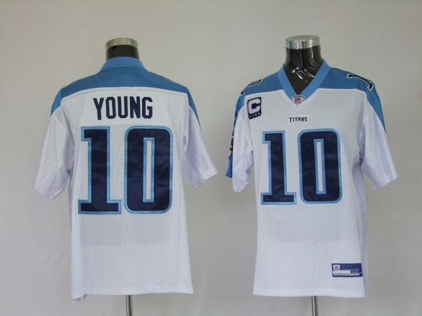 Titans 10 Vince Young white Jerseys