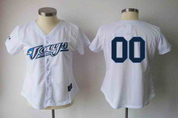 Toronto Blue Jays Blank White Women Custom Jerseys