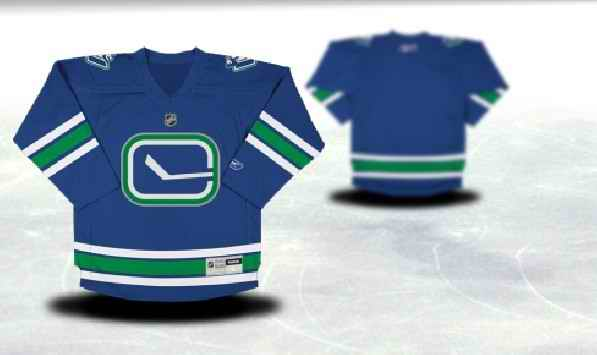 Vancouver Canucks Youth Customized Blue Third Jersey