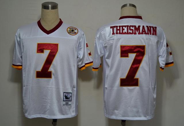 Washington Redskins 7 Theismann White M&N Jerseys