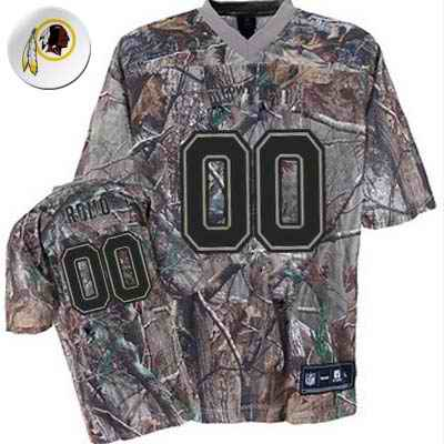 Washington Redskins Men Customized camo Jersey