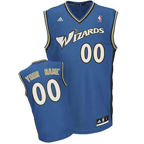 Washington Wizards Custom blue adidas Road Jersey