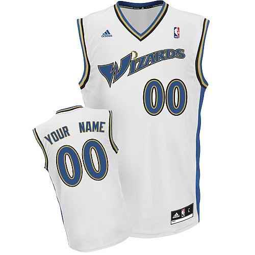 Washington Wizards Custom white adidas Home Jersey