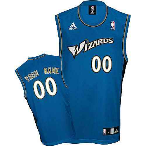 Washington Wizards Youth Custom blue Round neck Jersey