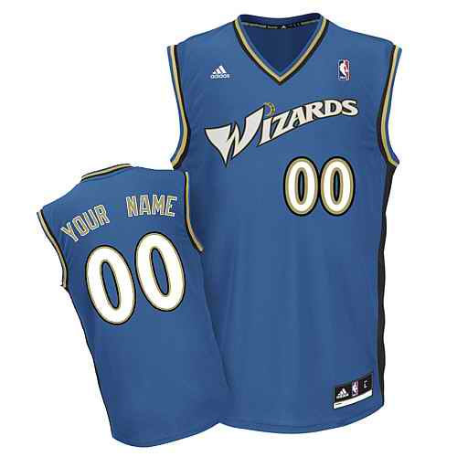 Washington Wizards Youth Custom blue V-neck Jersey