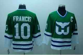 Whalers 10 Ron Francis Green Classic Throwback CCM Jerseys