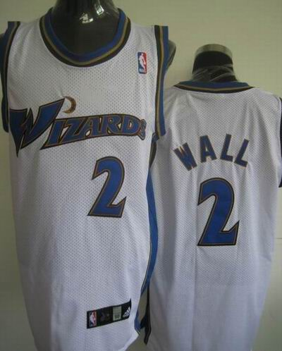 Wizards 2 John Wall White Jerseys