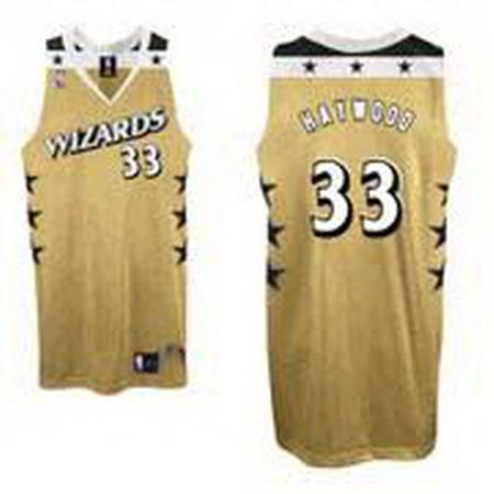 Wizards 33 Brendan Haywood Yellow Jerseys