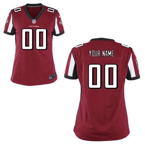Women's Nike Atlanta Falcons Customized Game Team Color Jersey