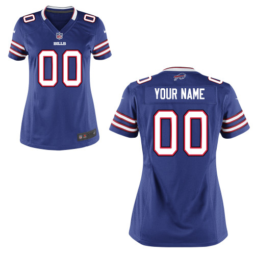 Women's Nike Buffalo Bills Customized Game Team Color Jersey