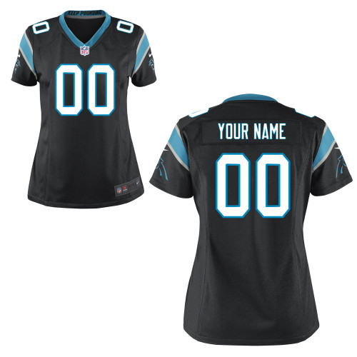 Women's Nike Carolina Panthers Customized Game Team Color Jersey