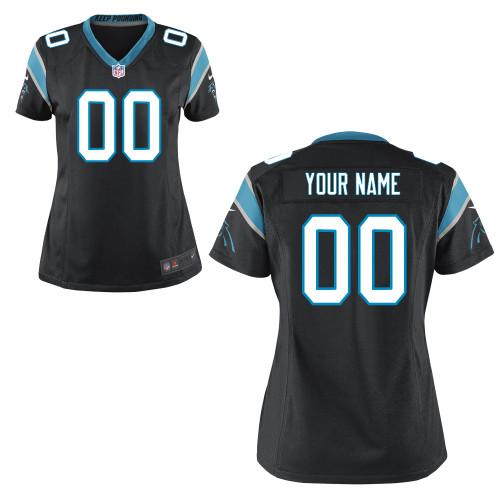 Women's Nike Carolina Panthers Customized Game Team Color Jersey