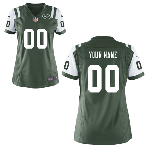 Women's Nike New York Jets Customized Game Team Color Jersey