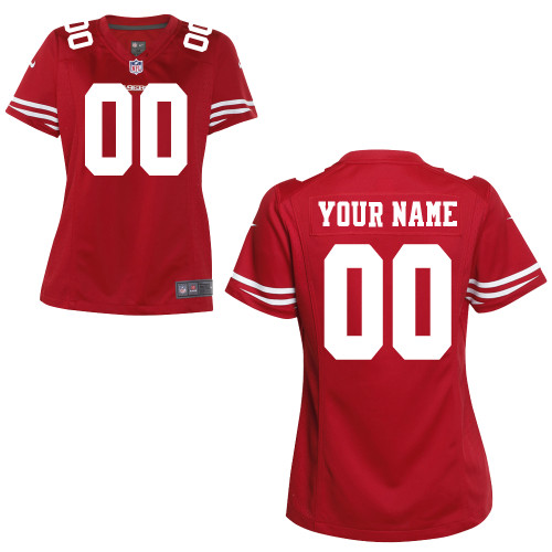Women's Nike San Francisco 49ers Customized Game Team Color Jersey
