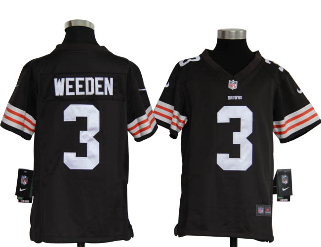 Youth Nike Browns WEEDEN 3 Browns Jerseys