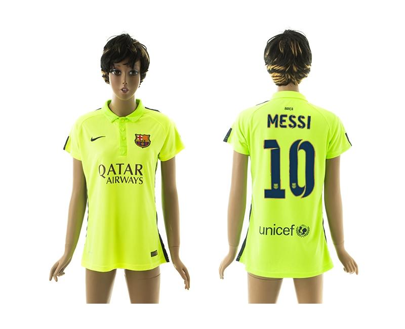 2014-15 Barcelona 10 Messi Third Away Women Jerseys