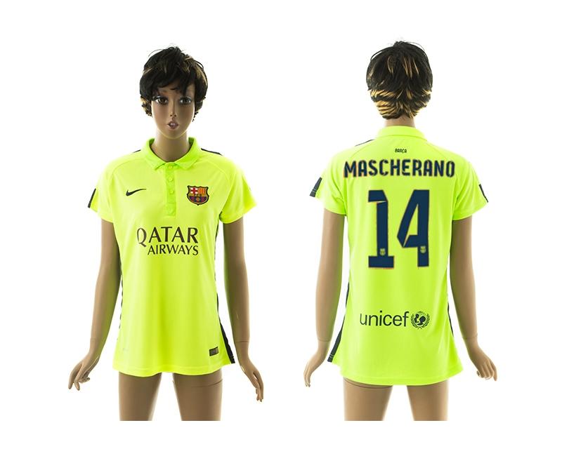 2014-15 Barcelona 14 Mascherano Third Away Women Jerseys
