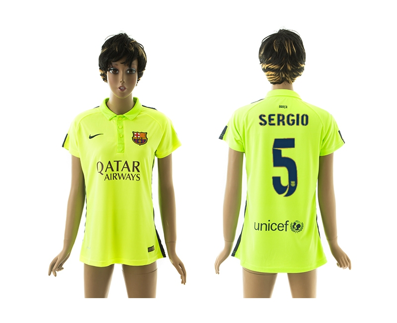 2014-15 Barcelona 5 Sergio Third Away Women Jerseys