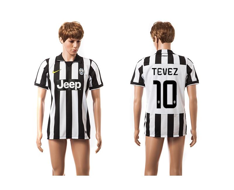 2014-15 Juventus 10 Tevez UEFA Champions League Home Thailand Jerseys