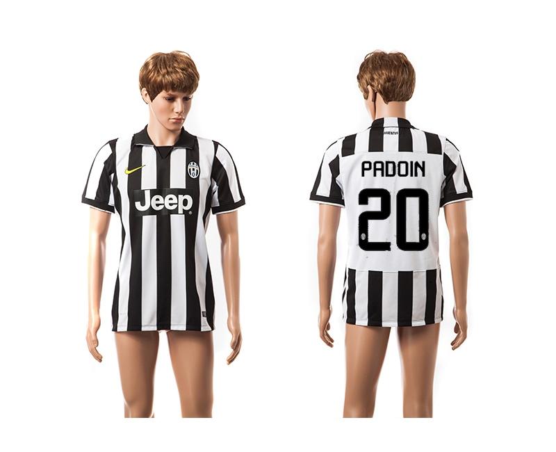 2014-15 Juventus 20 Padoin UEFA Champions League Home Thailand Jerseys