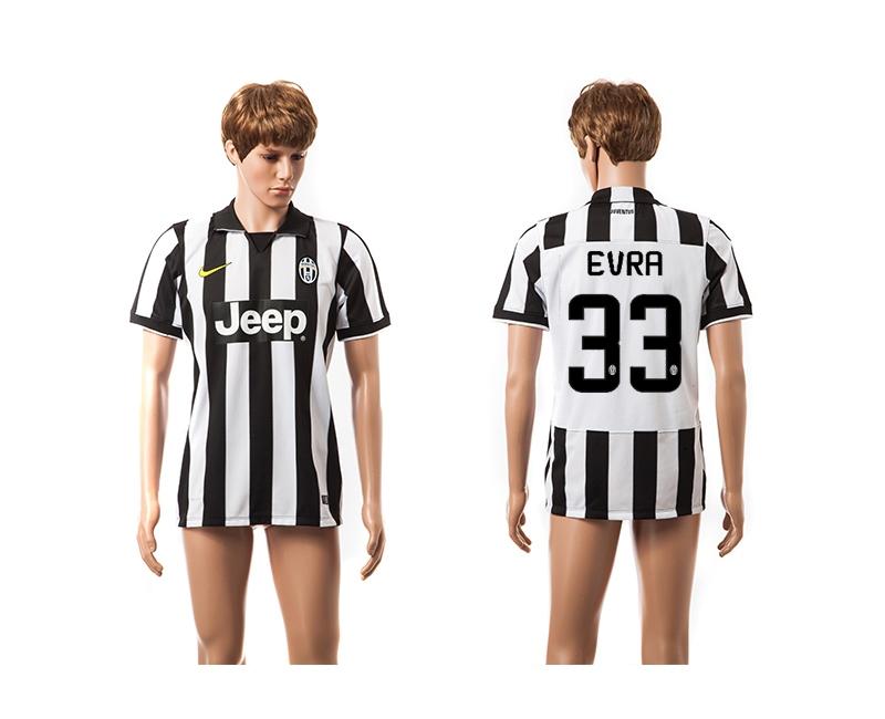 2014-15 Juventus 33 Evra UEFA Champions League Home Thailand Jerseys