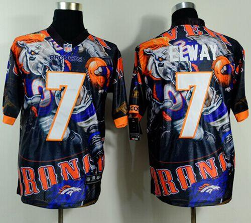 Nike Broncos 7 Elway Stitched Elite Fanatical Version Jerseys