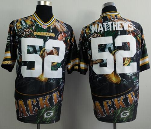 Nike Packers 52 Matthews Stitched Elite Fanatical Version Jerseys