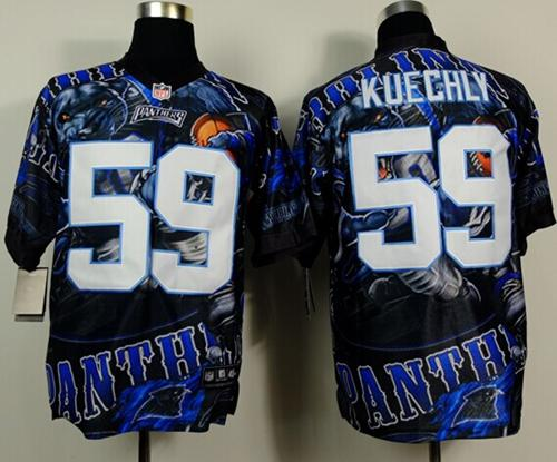 Nike Panthers 59 Kuechly Stitched Elite Fanatical Version Jerseys