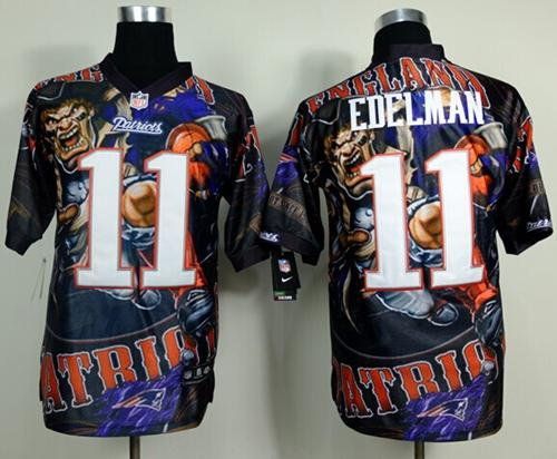 Nike Patriots 11 Edelman Stitched Elite Fanatical Version Jerseys