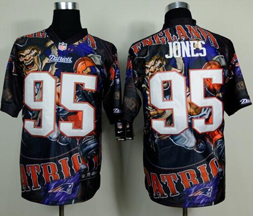 Nike Patriots 95 Jones Stitched Elite Fanatical Version Jerseys