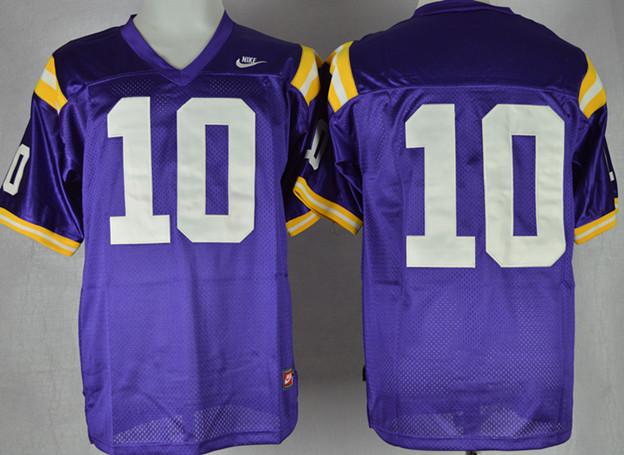 LSU Tigers 10 Addai Purple Jerseys