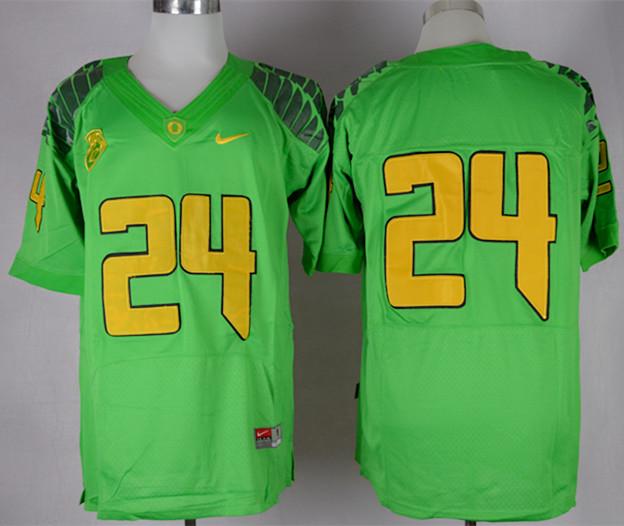 Oregon Ducks 24 Barner Apple Green Jerseys