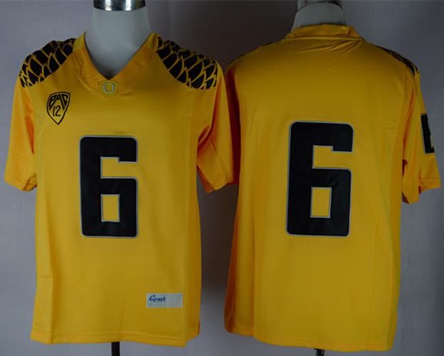 Oregon Ducks 6 D.Thomas Yellow Jerseys