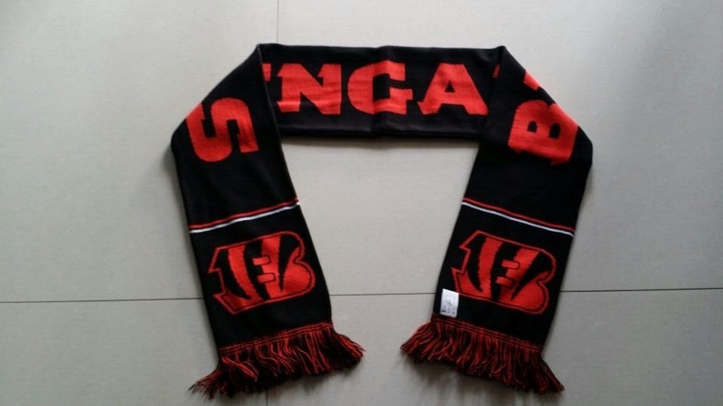 Bengals Black Fashion Scarf