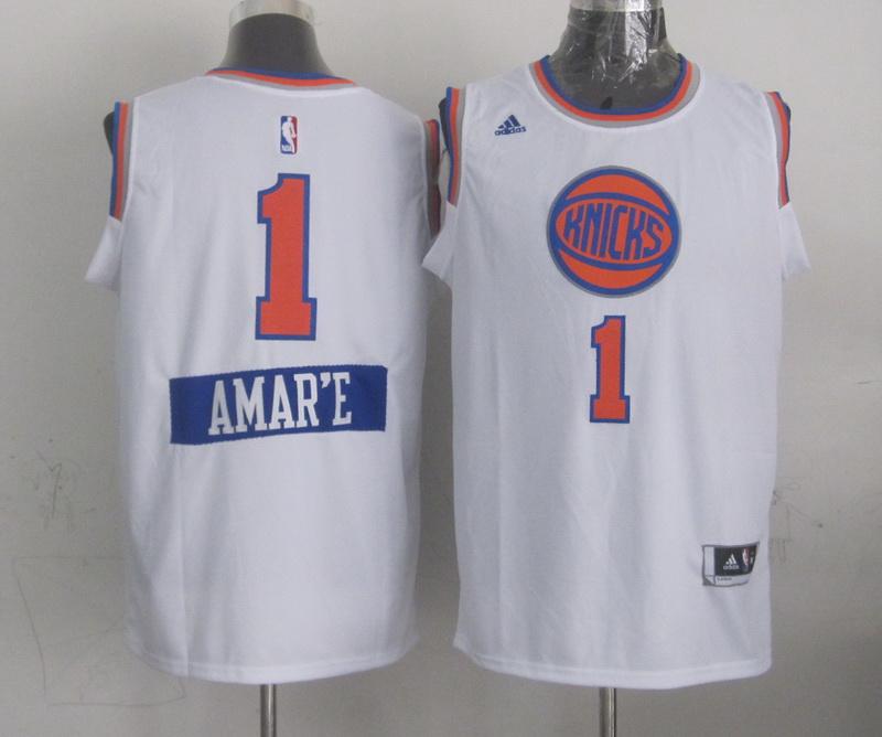 Knicks 1 Amare Stoudemire White 2014-15 Christmas Day Swingman Jerseys