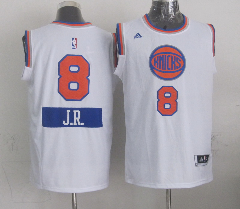 Knicks 8 JR Smith White 2014-15 Christmas Day Swingman Jerseys