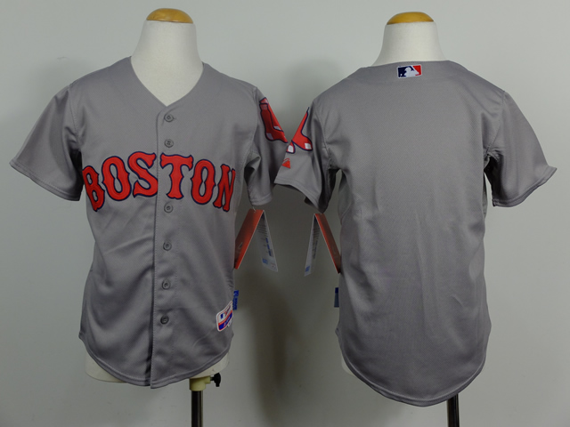 Red Sox Grey Youth Jersey