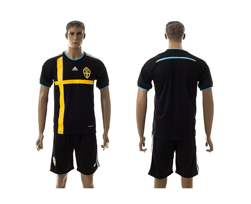 2014-15 Sweden Away Soccer Jersey