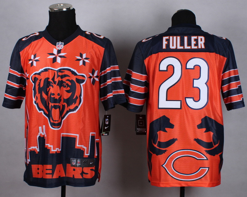 Nike Bears 23 Fuller Noble Elite Jerseys
