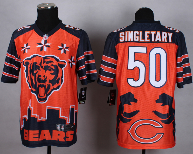 Nike Bears 50 Singletary Noble Elite Jerseys