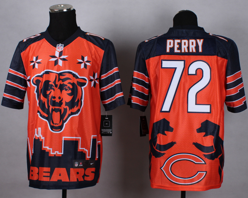 Nike Bears 72 Perry Noble Elite Jerseys