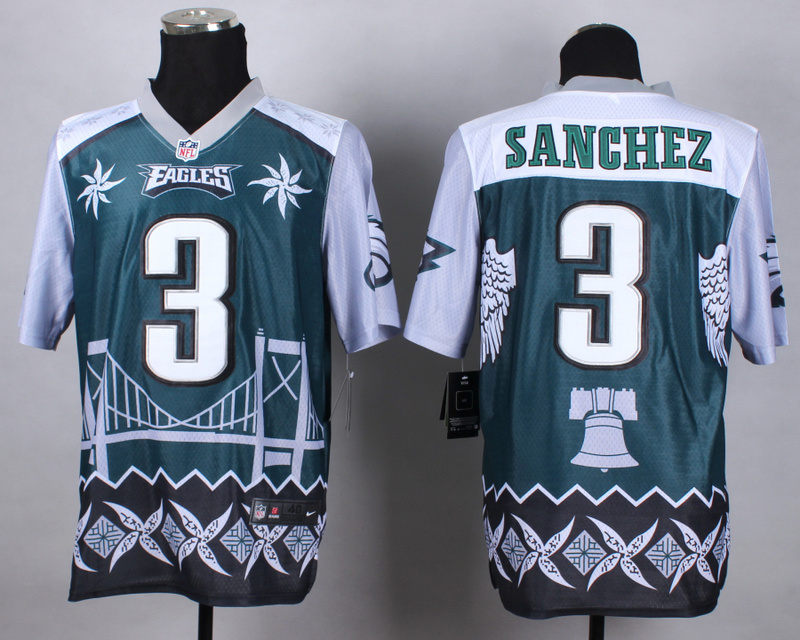 Nike Eagles 3 Sanchez Noble Elite Jerseys