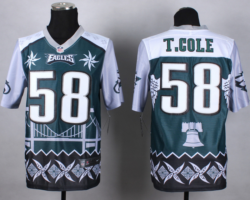 Nike Eagles 58 T.Cole Noble Elite Jerseys