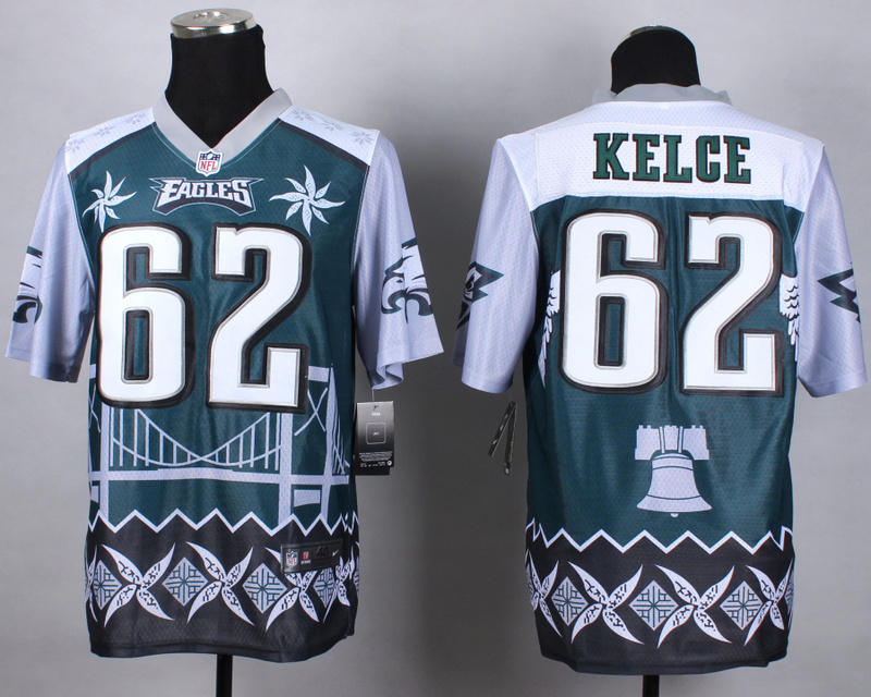Nike Eagles 62 Kelce Noble Elite Jerseys