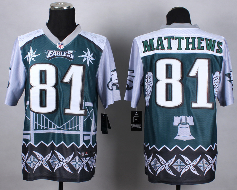 Nike Eagles 81 Matthews Noble Elite Jerseys
