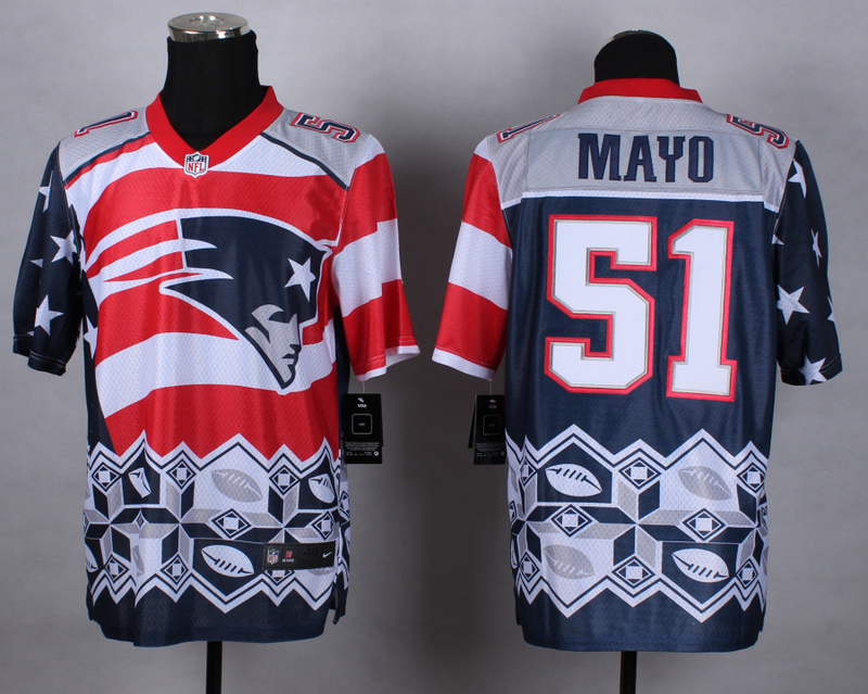Nike Patriots 51 Mayo Noble Elite Jerseys