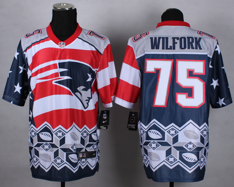 Nike Patriots 75 Wilfork Noble Elite Jerseys