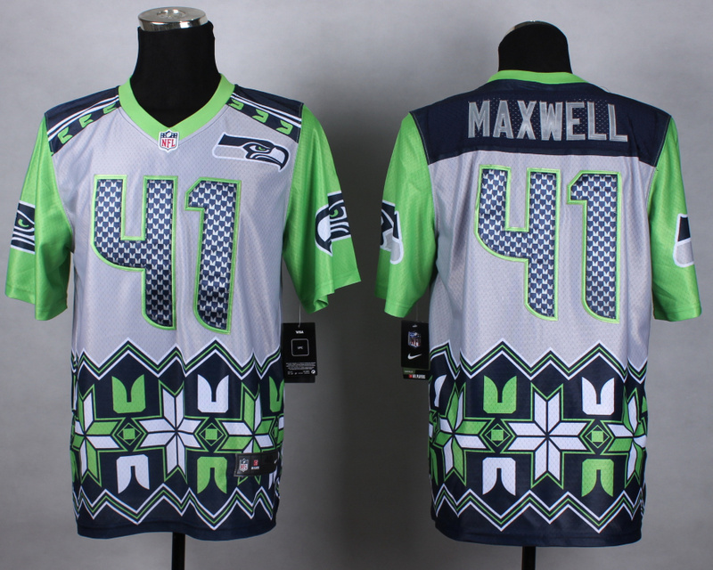 Nike Seahawks 41 Maxwell Noble Elite Jerseys