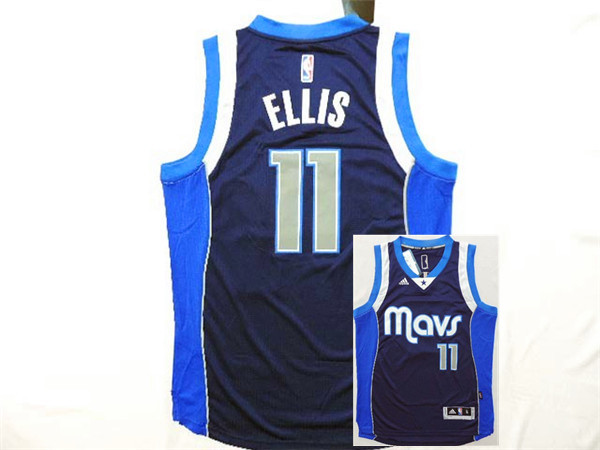 Mavericks 11 Ellis Navy Blue New Revolution 30 Jerseys
