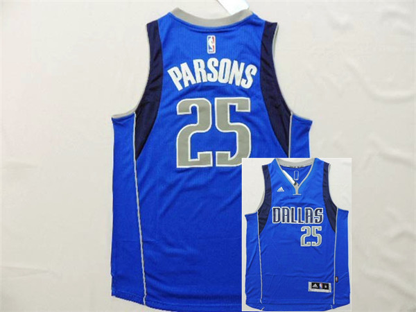 Mavericks 25 Parsons Blue New Revolution 30 Jerseys